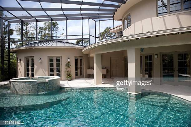 Swimming Pool and Spa at an Estate Home