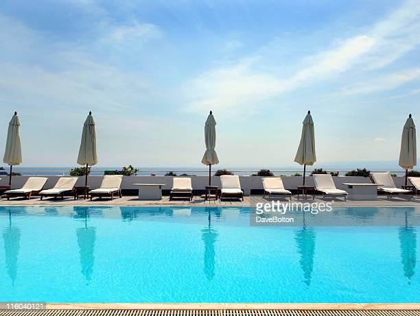 Swimming Pool and Sunshades