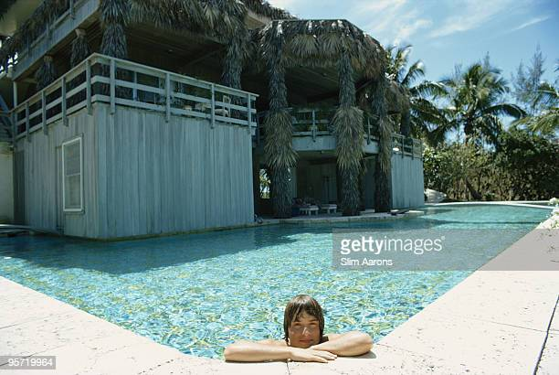 A swimming pool at Lyford Cay on New Providence Island in the Bahamas April 1974