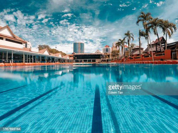 swimming pool during day time - length stock pictures, royalty-free photos & images