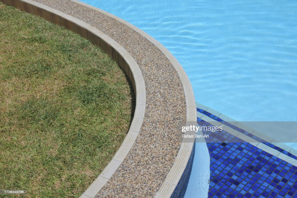 Swimming pool edge : Stock Photo