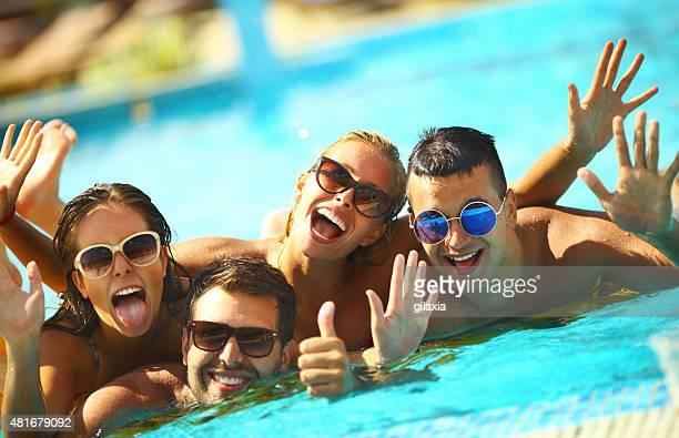 Swimming pool fun.