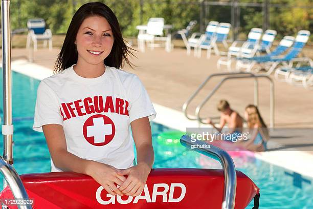 swimming pool guard - lifeguard stock pictures, royalty-free photos & images