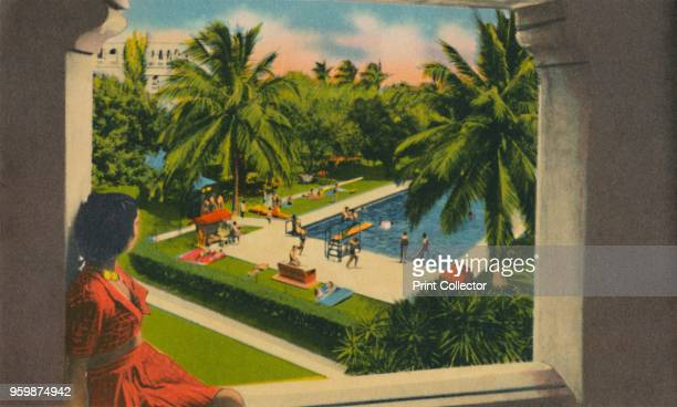 Swimming Pool, Hotel Del Prado, Barranquilla', circa 1940s. From Barranquilla. [Raul de la Espriella B., Barranquilla]. Artist Unknown.