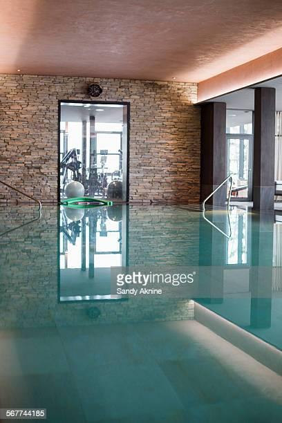 Swimming pool in a health club, Crans-Montana, Swiss Alps, Switzerland