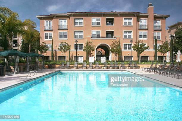 Swimming Pool In Apartment Complex