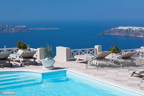 Swimming pool in patio