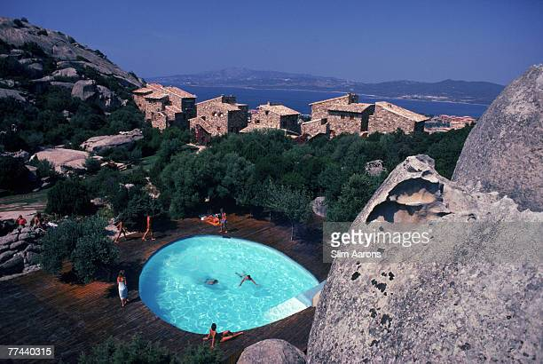 A swimming pool in Rosarda Porto Rotondo Sardinia Italy August 1982