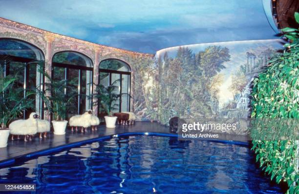 Swimming pool inside the house of Gunter Sachs