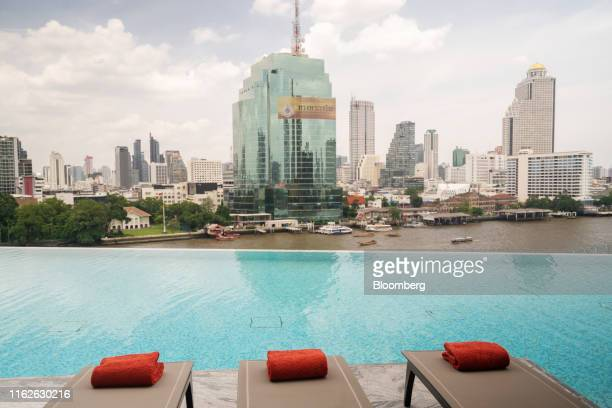 Swimming pool is seen at the Residencesat Mandarin Oriental development, managed by Mandarin Oriental Hotel Group and co-developed by Siam Piwat...