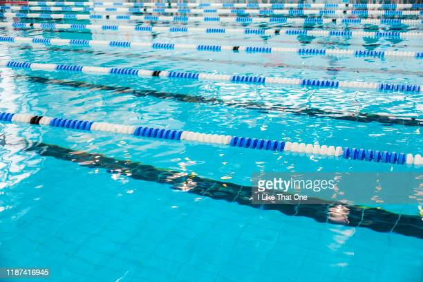 swimming pool lanes 5 - atomic imagery stock photos and pictures