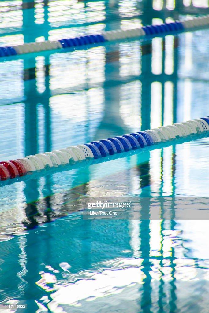 Swimming Pool Lanes : Stock Photo