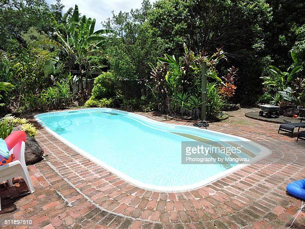 swimming pool - skinny dipping stock photos and pictures