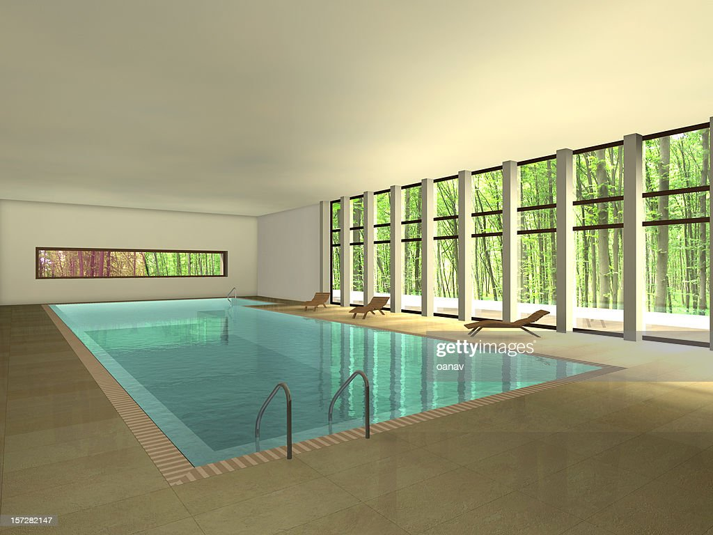 Piscina-Rendering clipping path : Foto stock