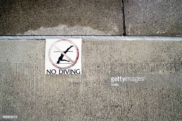 A swimming pool sign