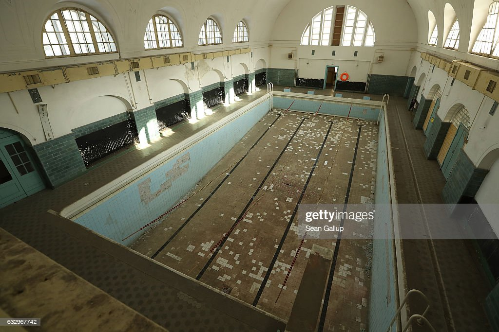 A swimming pool stands in the officers' building at the former Soviet military base on January 26, 2017 in Wuensdorf, Germany. Wuensdorf, once called 'The Forbidden City,' was the biggest base for the Soviet armed forces in communist East Germany from 1945 until the last Soviet troops left in the early 1990s following the end of the Cold War and the reunification of Germany. While Soviet troops pulled out of eastern Europe after 1989, Russian troops have in recent years intervened in Ukraine. The NATO military alliance has strengthened its presence in the Baltic states in an effort to prevent similar Russian intervention there.
