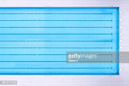 swimming pool top view view from above aerial view stock photo getty images - Rectangle Pool Aerial View