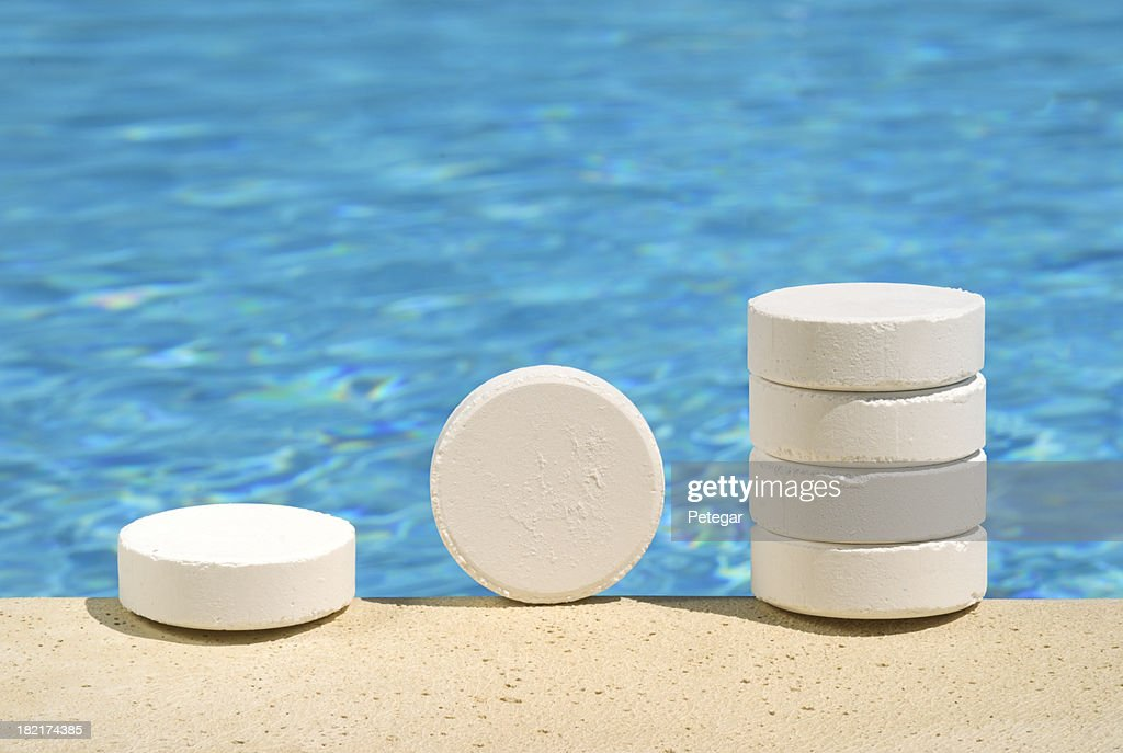 Swimming Pool Water Treatment With Chlorine Tablets Stock Photo Getty Images