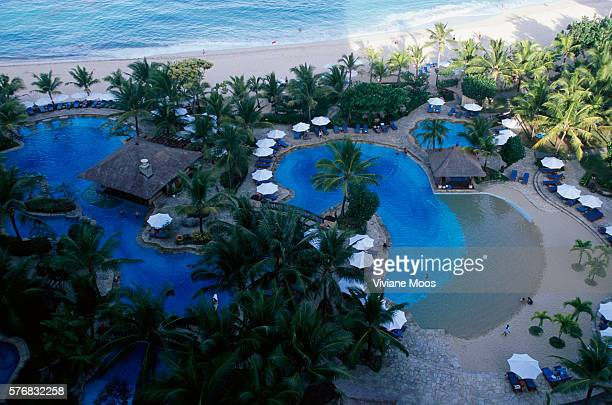 Swimming Pools and Beach of the Nikko Resort and Hotel