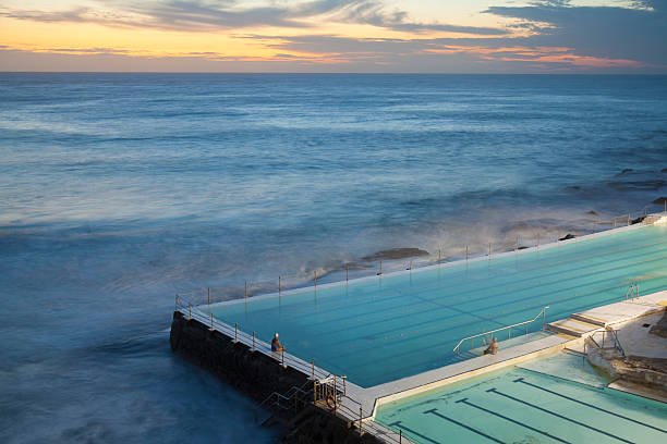 Swimming Pools At Bondi Beach, Before Sunrise Wall Art