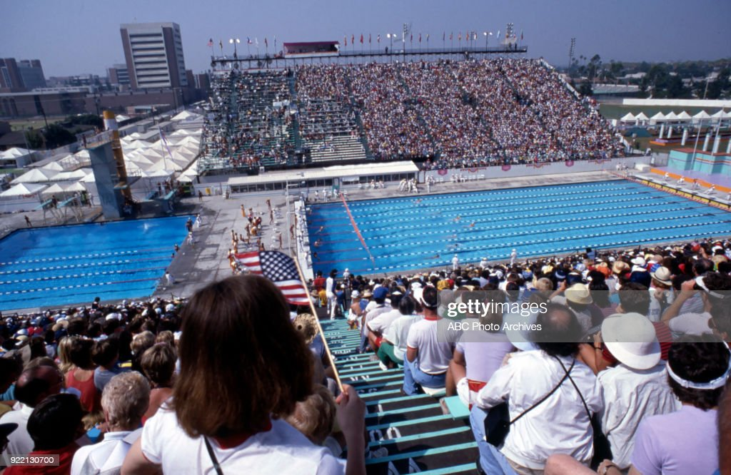 Swimming Practice At The 1984 Summer Olympics : News Photo