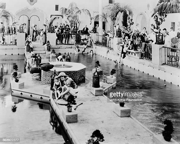 A swimming scene from an unidentified Cecil B DeMille film 1920