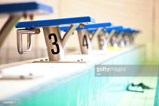 Blocs de départ natation