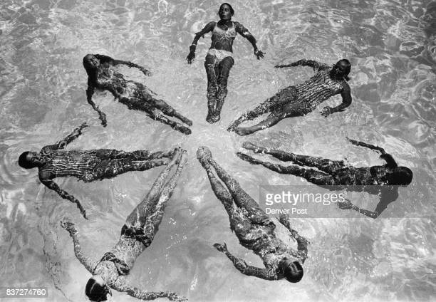 Swimming Synchronize movements for Splash Down '71 Members of swimming classes at Brighton Recreation Program prepare for annual water show to be...