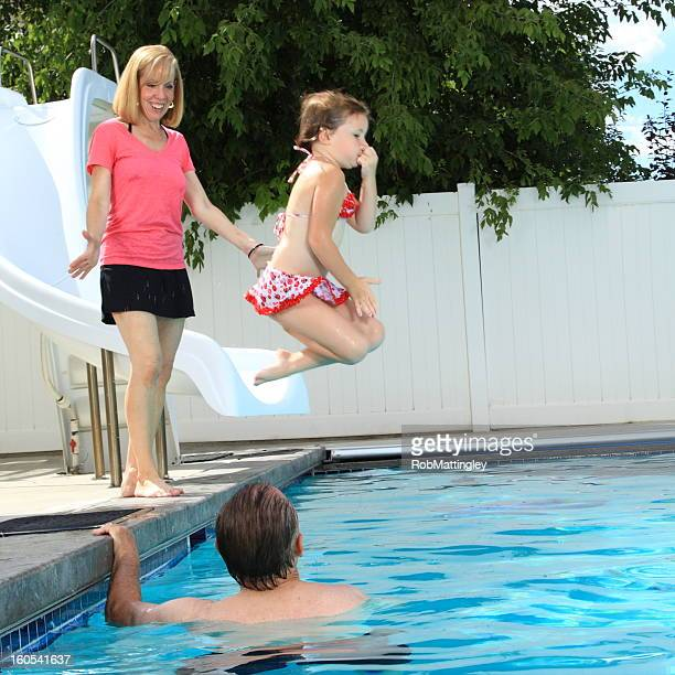 Swimming with Grandparents