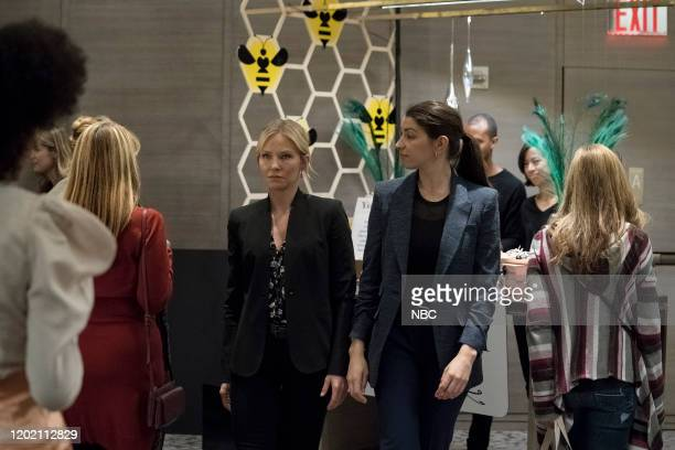 UNIT Swimming With The Sharks Episode 21015 Pictured Kelli Giddish as Detective Amanda Rollins Jamie Gray Hyder as Officer Katriona Kat Azar Tamin