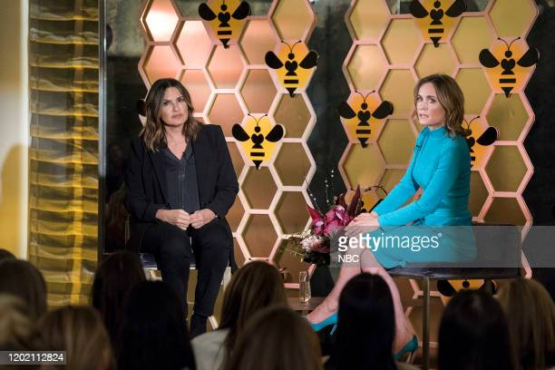 """Swimming With The Sharks"""" Episode 21015 -- Pictured: Mariska Hargitay as Captain Olivia Benson, Radha Mitchell as Luna Montgomery --"""