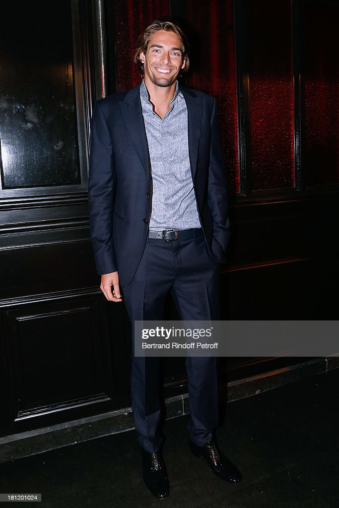 Swimming world champion Camille Lacourt attends 'A.Club Party' at Castel on September 19, 2013 in Paris, France.