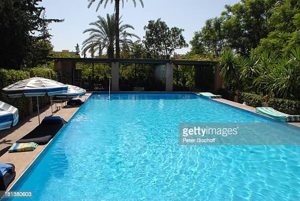 Swimmingpool der Villa von Henriette von Bohlen und Halbach Homestory Villa Bled Targui Marrakesch Marokko Nordafrika Afrika Residenz Palast Adel...
