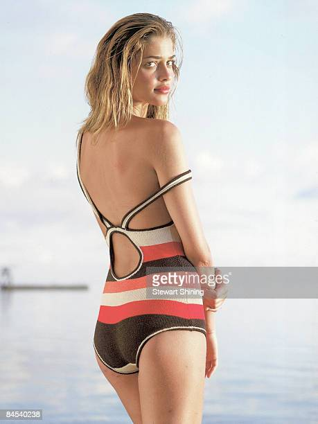 HUAHINE ITI PF Swimsuit 2006 Issue Portrait of Ana Beatriz Barros at Te Tiare Beach Resort Bikini by Ashley Paige