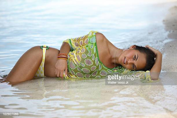 2010 Issue Portrait of Christine Teigen during photo shoot on location in the Maldives August 1 2009 PUBLISHED IMAGE Set Number X82696 TK2 R1 F562