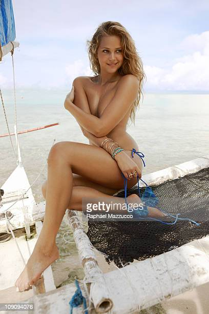 Model Esti Ginzburg poses for the 2011 Sports Illustrated Swimsuit issue on January 24 2011 on La Boracay Island in the Philippines PUBLISHED IMAGE...
