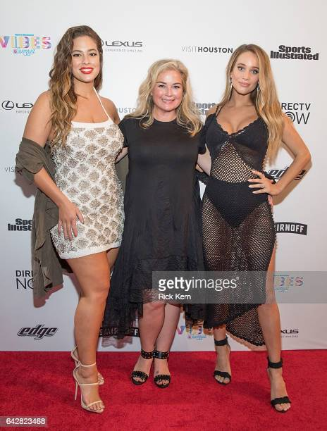 Swimsuit editor MJ Day and SI Swimsuit models Ashley Graham and Hannah Jeter attend the VIBES by Sports Illustrated Swimsuit 2017 launch festival on...