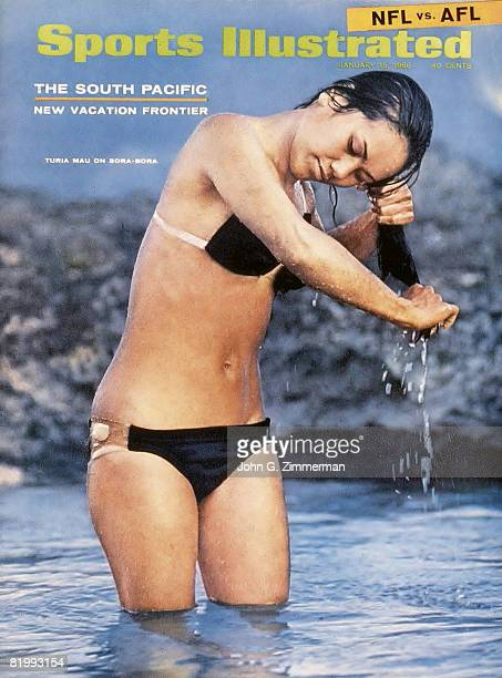 Swimsuit Issue 1968: Model Turia Mau poses for the 1968 Sports Illustrated Swimsuit issue on November 1, 1967 on Bora Bora. COVER IMAGE. CREDIT MUST...