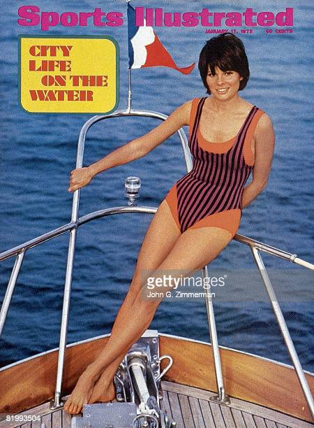 Swimsuit Issue 1972: Model Sheila Roscoe poses for the 1972 Sports Illustrated Swimsuit issue on November 16, 1971 on Marina del Rey, California....