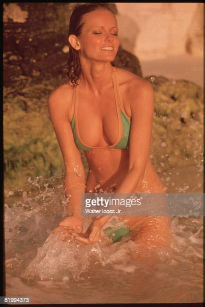 Swimsuit Issue 1975 Model Cheryl Tiegs poses for the 1975 Sports Illustrated Swimsuit issue on November 22 1974 in Cancun Mexico COVER IMAGE CREDIT...