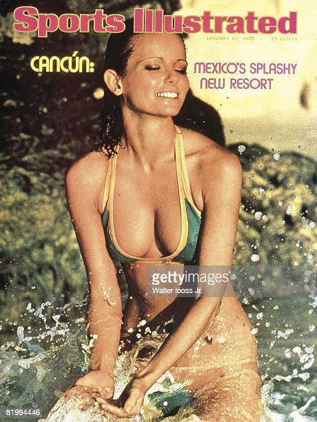 Swimsuit Issue 1975: Model Cheryl Tiegs poses for the 1975 Sports Illustrated Swimsuit issue on November 22, 1974 in Cancun, Mexico. COVER IMAGE....