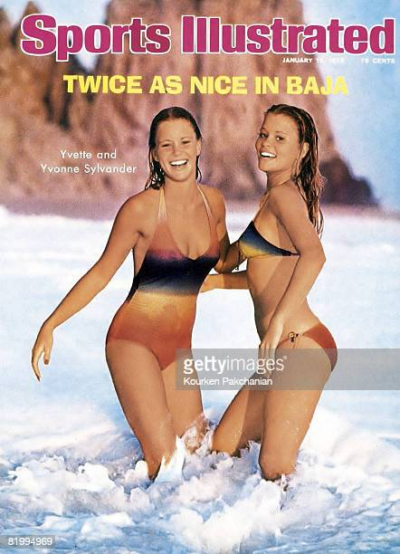 Swimsuit Issue 1976: Models Yvonne Sylander and Yvette Sylander pose for the 1976 Sports Illustrated Swimsuit issue on November 21, 1975 in Punta...
