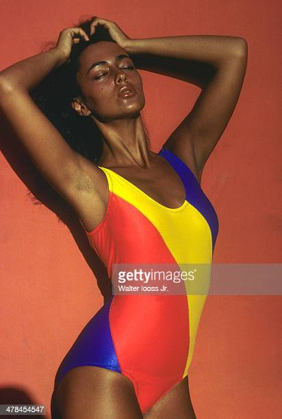 Swimsuit Issue 1978: Model Maria Joao poses for the 1978 Sports Illustrated Swimsuit issue on November 28, 1977 in Itapoa, Brazil. CREDIT MUST READ:...