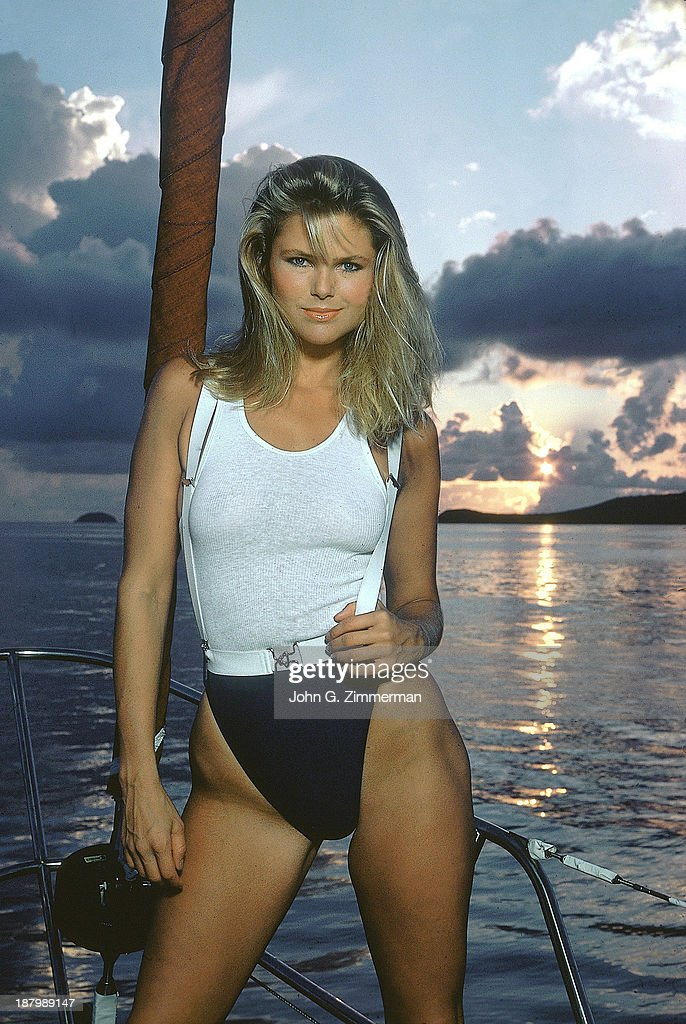 Model Christie Brinkley poses for the 1980 Sports Illustrated Swimsuit issue on November 23, 1979 in the British Virgin Islands. PUBLISHED IMAGE.