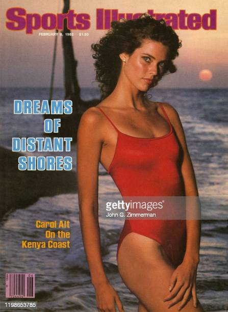 Swimsuit Issue 1982 Model Carol Alt is photographed for the 1982 Sports Illustrated Swimsuit issue on December 1 1981 on Manda Island Kenya COVER...