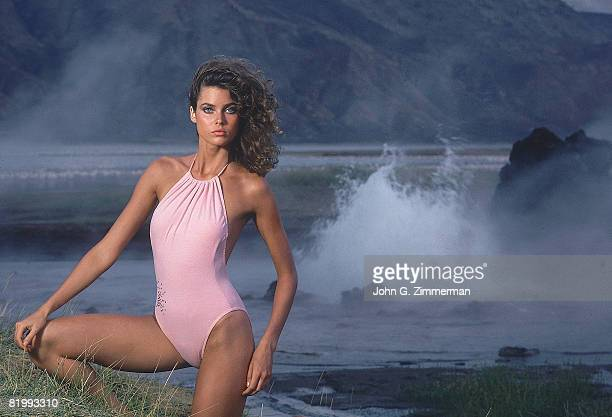 Swimsuit Issue 1982 Model Carol Alt is photographed for the 1982 Sports Illustrated Swimsuit issue on December 1 1981 in the Great Rift Valley in...