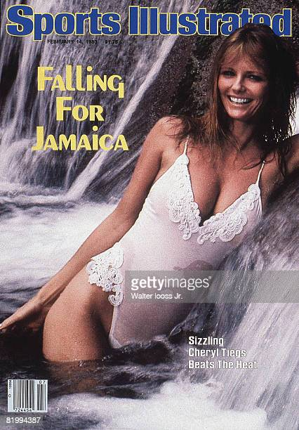 Swimsuit Issue 1983: Model Cheryl Tiegs poses for the 1983 Sports Illustrated Swimsuit issue on November 22, 1982 in Port Antonio, Jamaica. COVER...