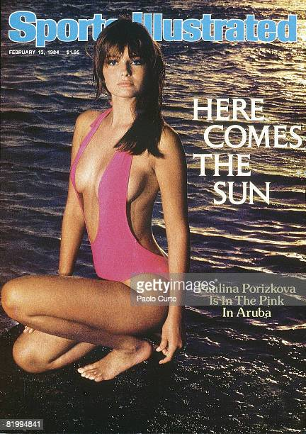 Swimsuit Issue 1984 Model Paulina Porizkova poses for the cover of the 1984 Sports Illustrated Swimsuit issue on December 16 1983 in Aruba COVER...