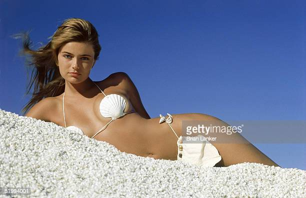 Swimsuit Issue 1985 Model Paulina Porizkova poses for 1985 Sports Illustrated Swimsuit issue on February 1 1985 in Shark Bay Australia CREDIT MUST...