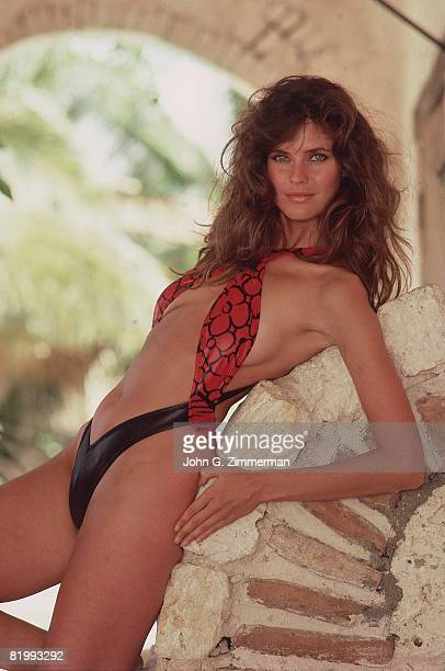 Swimsuit Issue 1987 Model Carol Alt is photographed for the 1987 Sports Illustrated Swimsuit issue on September 24 1986 in La Romana Dominican...